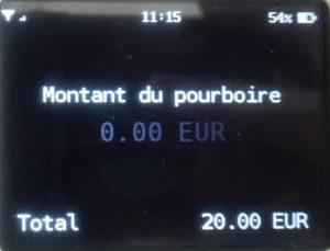 Importo mancia SumUp 3G