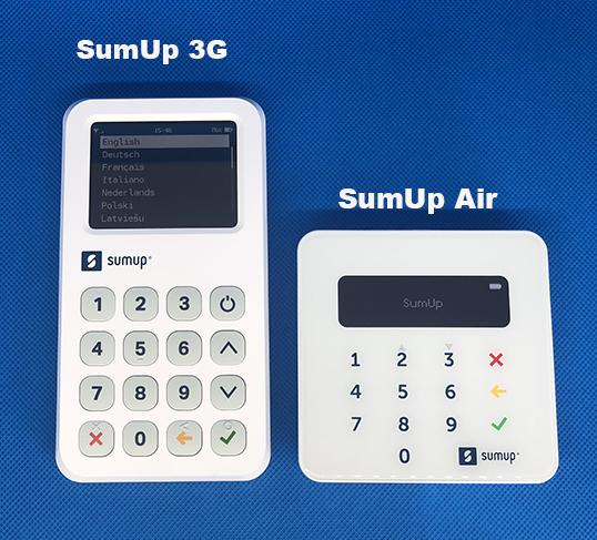 Terminale sumup 3G et Air